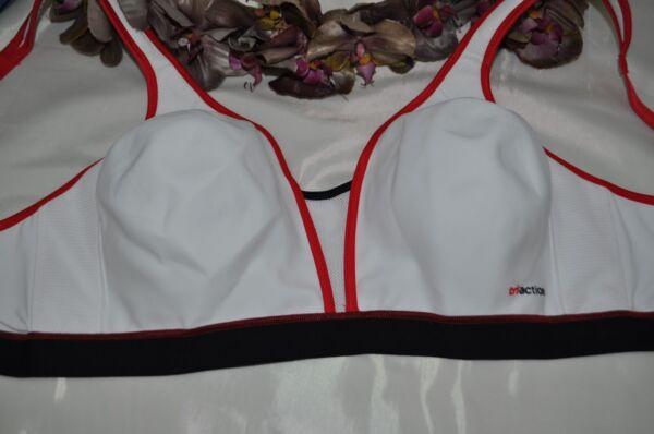 Triumph Sport BH ohne Bügel Triaction Extreme N Weiß-Rot Gr 90 B NEU