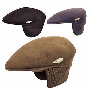 2e16534792 Details about Authentic Kangol 100% WOOL 504 EARLAP Ivy Cap Hat 0238KG  S-XXL Black Grey Camo