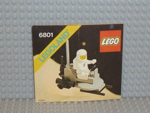 Lego ® Space Classic receta 6801 Moon Buggy ungelocht instruction b5540