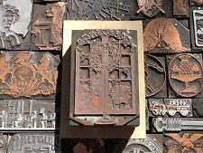 Antique Greetings Christmas Carolers Letterpress Print Type Cut Ornament Block