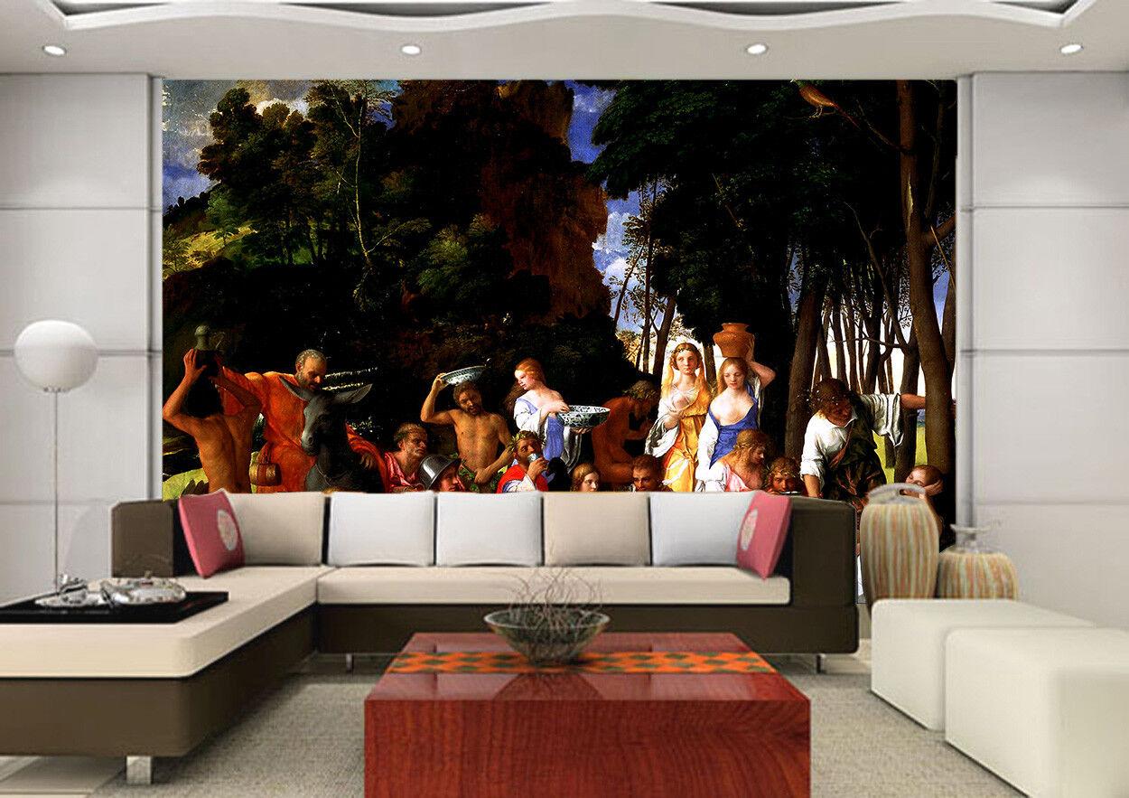 3D Fest Der Götter 754 Tapete Wandgemälde Tapete Tapeten Bild Familie DE Summer