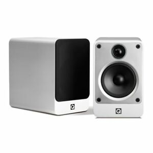 Q-Acoustics-Concept-20-Pair-Speakers-Bookshelf-White-New-Italian-Warranty