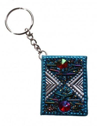 Kamparo schlüsselanhänger mit Memobroschüre hellblau 4 cm
