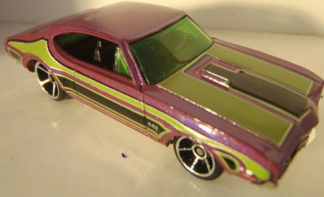 HOT WHEELS OLDS 442 (PINK) LOOSE (FIRST EDITION)
