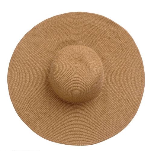 Strohhut toll Sonnenhut Damen Schlapphut Krempenhut Strandhut breite Krempe