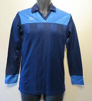 Vtg 80s PUMA Football Shirt Player Issue Soccer Jersey Trikot Camisa Sz 5 #14 S