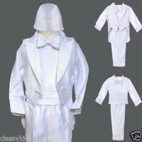 Baby Boy Christening Baptism Gown Outfit Size Xs S M L Xl (0m To 24m) White
