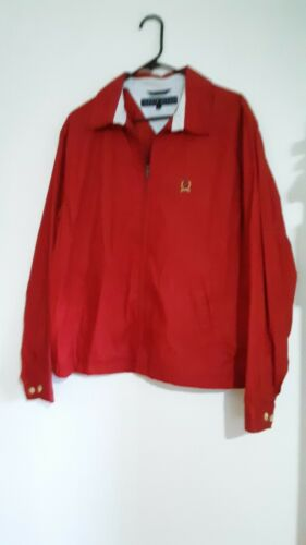 Tommy Hilfiger Mens Lightweight Jacket Red Medium