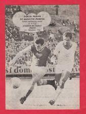 Orig.PRG    EC 1  1961/62    DUKLA PRAG - SERVETTE GENF  1/8 Finale  !!  SELTEN
