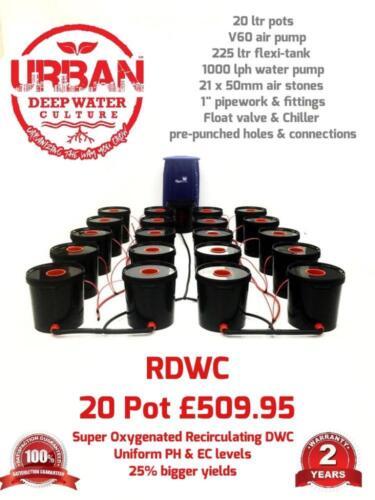 20 Pot 20L System 4 Lane /& Flexi For Grow Size 3.5 x 2m DWC RDWC Autopot IWS