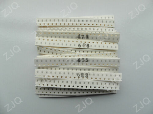 720Pcs 1206 0805 0603 SMD Capacitor Assorted Kit 36 Values 1pF~10uF Samples Kit