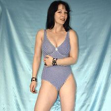 weicher, karierter BODY mit Bügel* S 80B * Badeanzug stretchig* Gymnastikanzug