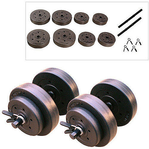 Vinyl Dumbbell Set 40 lbs  Fitness Weight Lifting Strength Training Home Gym New  online