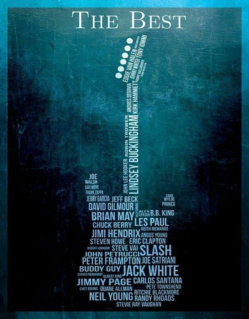 193466 Guitar the Beste Wall Print Poster AU