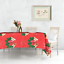 miniature 9 - Rectangle Rond Noël Rouge Nappe polyester Table Nappe Festive Motif
