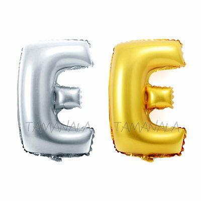 NEW Mylar Foil Balloon Letters A-Z Alphabet Wedding Party Decoration Gold Silver