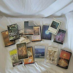 Lot of 14 Nature Sounds Cassette Tapes Rain Forest Scottish Moors Lifescapes