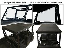 Polaris Ranger 4 Seat Crew (Mid-size) Roof/Shield/Cab Back Combo