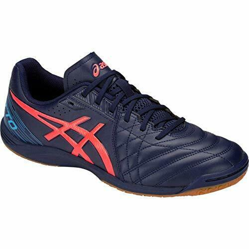 dfed6436e ASICS Football Futsal shoes CALCETTO WD 8 WIDE 1113A011 Navy US8.5(26.5cm