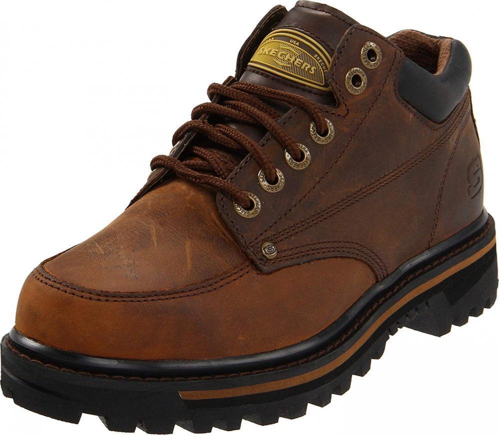 Skchers Men's Mariner Utility avvio Leather Work Comfort Casual Walking  Hiking  Sconto del 60%