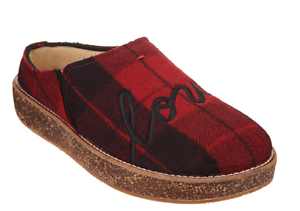 Tillie Red Plaid Love Women/'s Size 7 ED Ellen Degeneres Applique Slippers