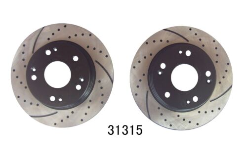 Performance Drilled /& Slotted Brake Rotors Rotors Only Front and Rear Kit