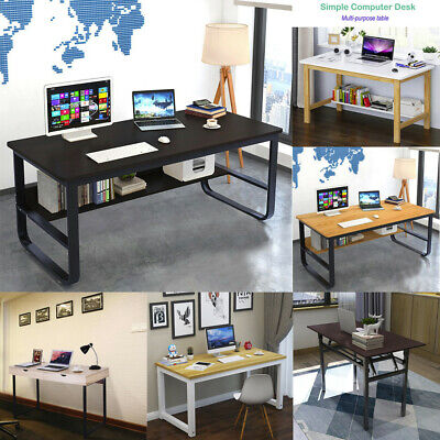 Computer Desk Home Office Study Simple Writing Modern Bedroom Table  Workstation | eBay