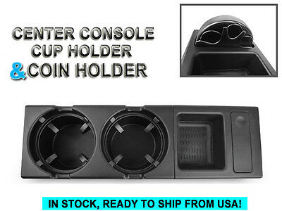 *2PCS OE Center Console Storing Coin Box+Cup Holder For 1999-206 BMW E46 3Series