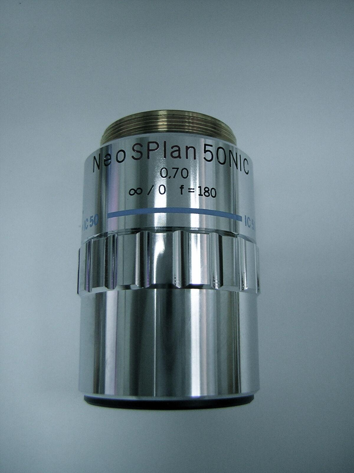 Olympus Microscope Objective Neo SPlan 50 NIC 0.70 ∞ 0 f=180 IC 50