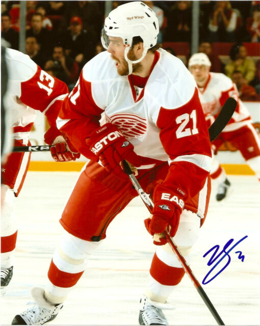 Detroit Red Wings Ville Leino Signed Autographed 8x10 Photo COA