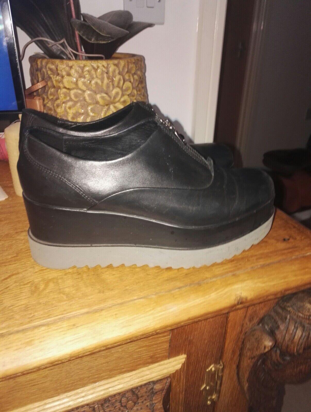 Lea foscati leather platform boots size 37
