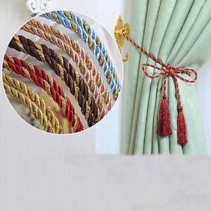Seil-Schnur-Quaste-Baumwolle-Seil-Vorhang-Raffhalter-Wohnzimmer-Dekoration-SH