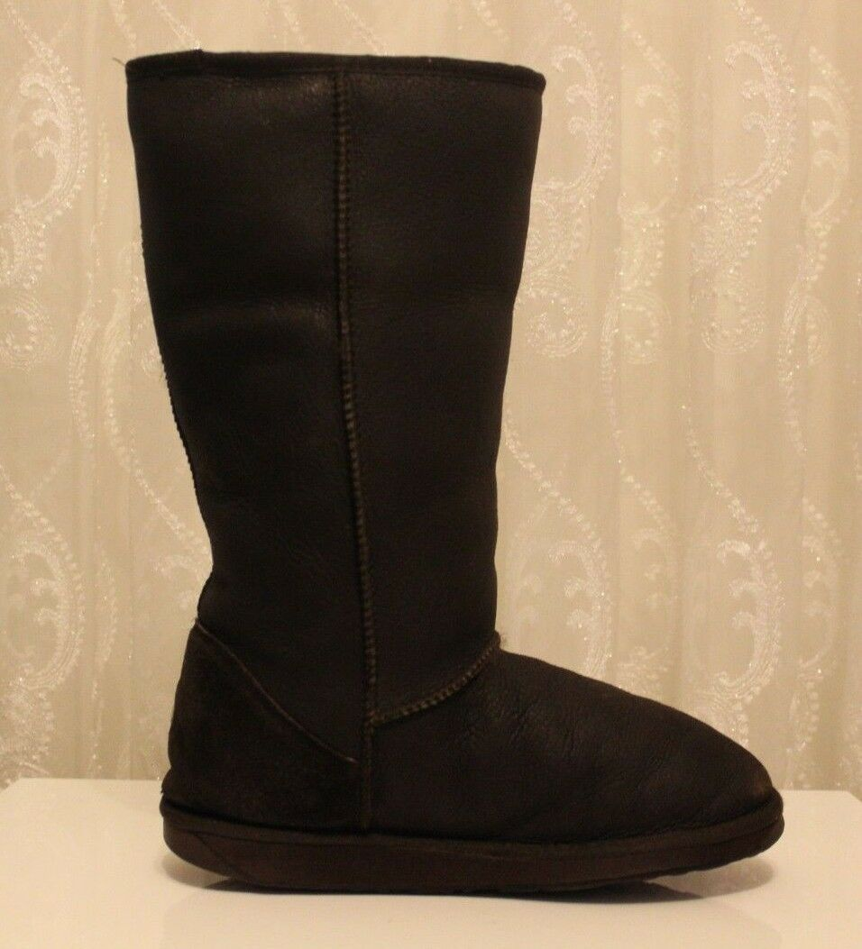 Emu Brown Stinger Tall Genuine Sheepskin Wool Lining Warm Boots W9