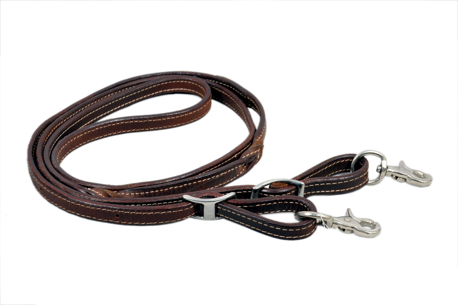 Western Natural  Leather Tie Down With Stainless Steel Trigger Snaps