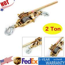 Hoist Ratchet Hand Lever Puller Come Along Double Hooks Cable 4400lb 2ton New