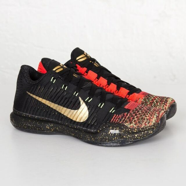26430ed6f42 Nike Kobe X 10 Elite Low Xmas Christmas 5 Rings 802560-076 Size 10 ...