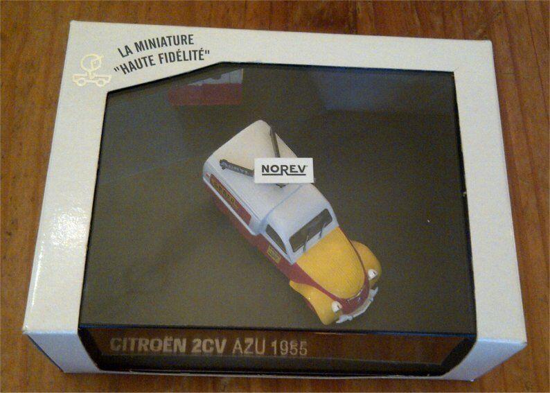 CITROEN 2CV AZU 1955 ACRYL RIPOLIN SPRED NOREV 2 2 2 CV 1/43 BOX BOITE FOURGONNETTE b70064