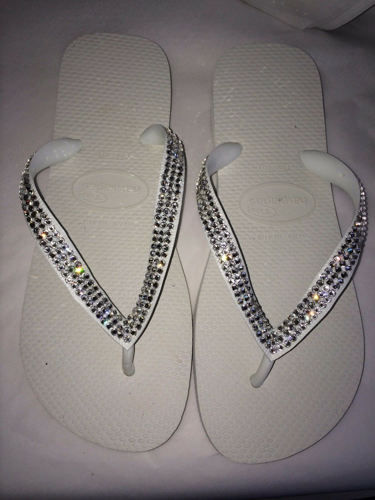 Crystal wedding  flip flops Havaianas made with SWAROVSKI Elements Bling crystal