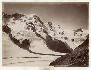 Suisse-Breithorn-massif-des-Alpes-valaisannes-vue-panoramique-Vintage-albume