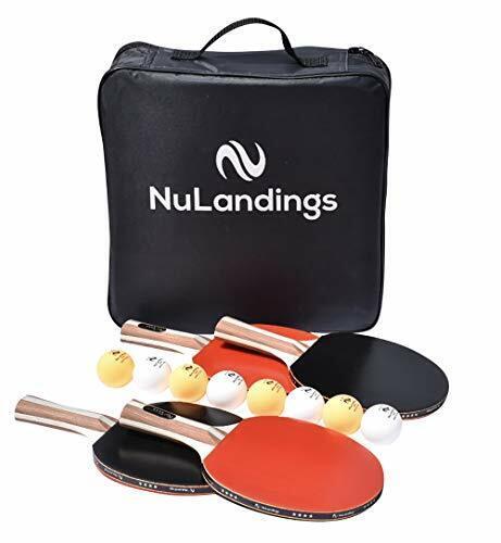 Nulandings Tischtennis Set - 4 Schläger 8 8 8 Kugeln und Hülle b5a01a