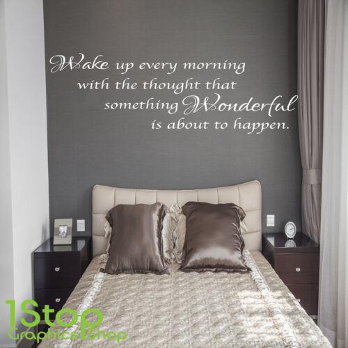 Despertar cada mañana pegatinas de pared citar-Home Salón Arte de pared calcomanía x138