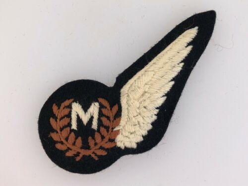 R.A.F. British Royal Air Force Meteorologist  /'M/' cloth half wing brevet badge