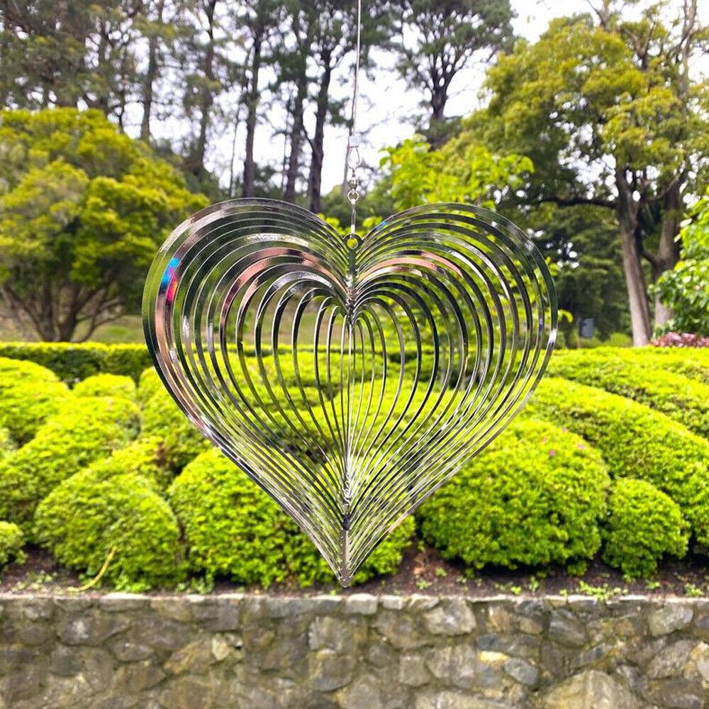 Beating Heart Wind Spinner Metal Wind Catcher For Home Yard Garden Hanging