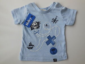 039-MILKY-039-BABY-BOY-PIRATE-TREASURE-MAP-T-SHIRT-TOP-SIZE-000-FITS-0-3M-NEW