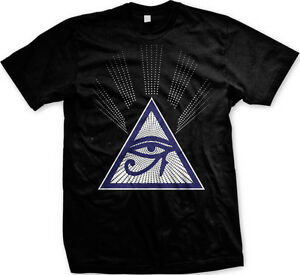 Eye-Of-Providence-Mason-Illuminati-All-Seeing-Eye-God-Divine-Men-039-s-T-shirt