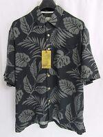 Jamaica Jaxx Men's 100% Silk Short Sleeve Casual/dress Shirt (m/l/xl)