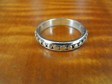 RSC Circle Pattern Band Sterling Silver 925 Ring Size 8