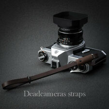 Camera Brown Leather Wrist Strap for Leica, Fuji & others - Deadcameras -