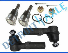 New (2) Front Lower Ball Joints + (2) Outer Tie Rod End Links for Nissan Sentra