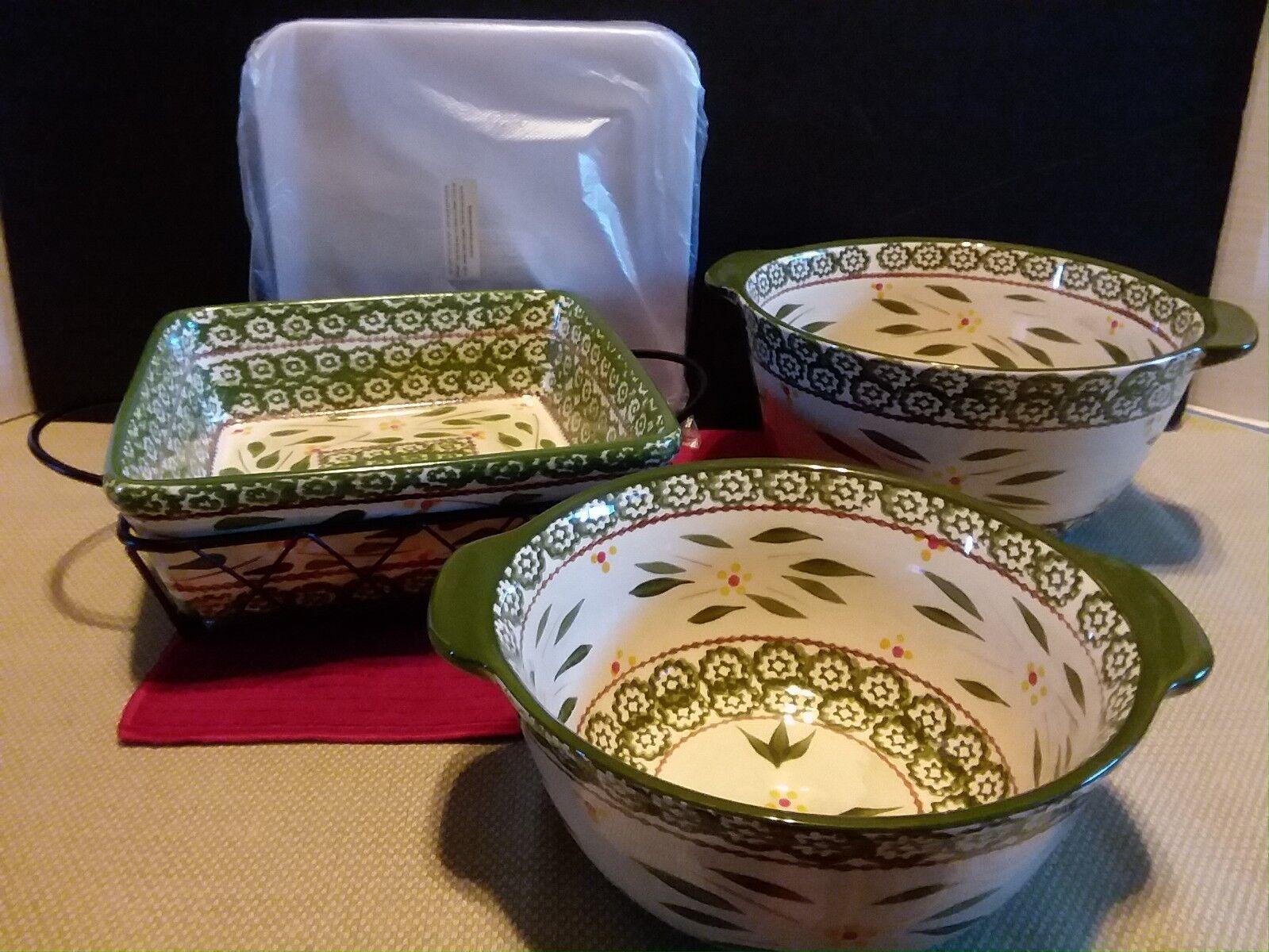 TEMP-tations 6 pc Old World Vert Ensemble d'Ustensiles de Cuisson Baking Set Cookware